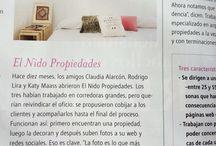 Noticias y publicaciones / Revistas, diarios, etc. en el que ha salidos El nido propiedades