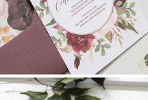 Fall/Autumn Wedding Stationary Inspiration