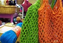 Bags, purses, totes / Fabric or yarn, sewn or crocheted