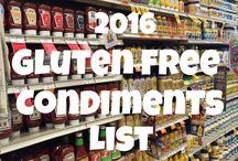Gluten Free Condiments list