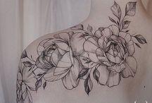 Kwiaty tatoo