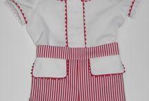 Conjuntos para niño primavera/verano / Ropa para bebe. Conjuntos de camisa y pantalón para bebe realizados a mano de la mejor calidad, en telas de piqué, villelas, batista, ideales. www.mibebesito.es