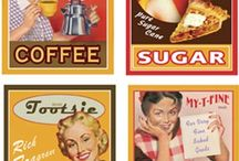 vintage labels / by Demet