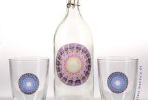 Mandala Sticker / transparente, wetterbeständige Aufkleber ob für Gläser, Glasflaschen, Fensterscheiben oder für was auch immer Du willst.