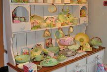 armario con los potes decorados