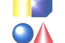 geometrische 3d vormen