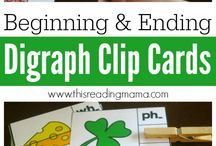 Digraphs for Early Learners / Mostly free resources for learning about beginning and ending digraphs for young children.