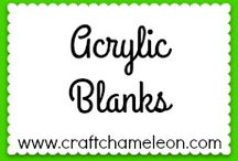 Acrylic Blanks / Your one stop shop for Acrylic Blanks | Providing high-quality craft supplies for electric vinyl cutting machines • From acrylic, knit & burlap blanks to vinyl, dies & adhesives | CraftChameleon.com