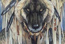 Black Dog and Werewolf