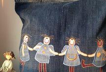 Сумки из джинсов / Сумочки из джинсов с вышивкой
