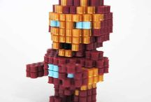 hama beads 3D figuer