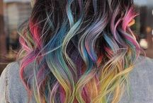 Hair tips colored