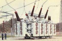 centrali elettriche e vecchio materiale elettrico