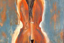 La musique et la femme / Peinture acfylique la musique et la femme
