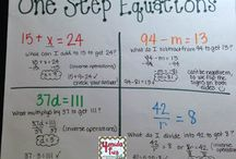 Algebra Concepts / Find algebra concept activities to add to your lessons. Check out the ideas for expression phrases, evaluating expressions, combining like terms, solving one or two step equations, tables, unit rates, ratios, coordinate planes, and more. This math board includes games, worksheets, interactive notebook ideas, anchor charts, TPT resources, and more for 5th, 6th, 7th, and 8th grade classrooms.