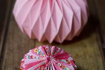 Boule origami / #deco #decoration #origami #mariage # wedding