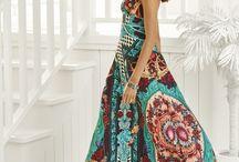 Minha paixão por vestidos longos