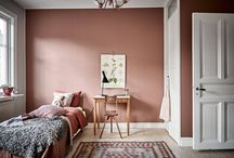 Powder pink bedroom