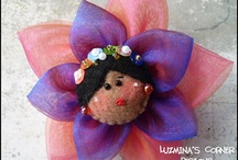 Doll Face Brooches