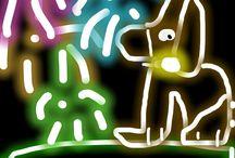 NEON DRAWS / Beautiful glow draws