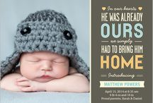 Baby Boy Birth Announcement / by Jennifer {Fab Fatale}