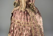 1700-1800 Man and Womans clothing Pink and Purple colour