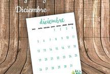 Descargables /  calendario del mes de diciembre descargable