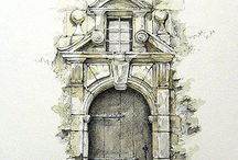 architectural art ideas / drawing ideas