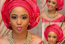 Headtie / Headtie is a fashionable culture in all of Nigeria, and comes in fabrics such as damask, hand woven fabric or aso-oke, and brocade. Every language in Nigeria has a name for head-tie such as Gele in Yoruba, Ichafu in Igbo etc