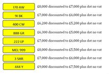 APRIL SPECIAL OFFERS / Eight registrations on special offer