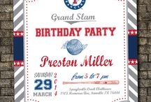 Hudson's Texas Rangers Birthday