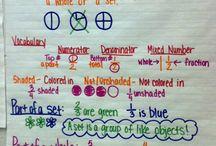 School - Math: Fractions / by Stephanie Pudlowski