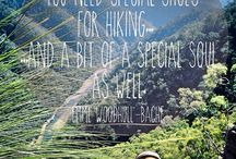 Hiking Quotes / Inspirational quotes with hiking and nature and wilderness at their core.