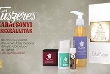 Blueberry Karácsonyi ajándékcsomagok / Natúr szappanok és tusfürdők többféle összeállításban a Blueberry-Cosmetics kínálatában.