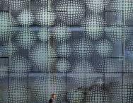 printed glass facade