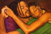 Romantic/Beautiful African-American Art / Stunning artwork by and depicting Blacks, any medium