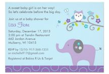 Mod Owl and Elephant Baby Shower