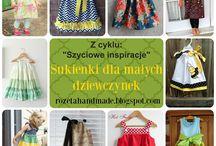 Sukienki dla małych dziewczynek, easy dress for a little girl, sewing inspiration / Inspiracje szyciowe, sewing inspiration jak uszyć to i owo, how to sew diy