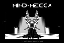 Mind Mecca / Mind-Mecca is a point & click experience combining reflection with contemplation.  Through monochrome environments and organico-mecanic soundscapes