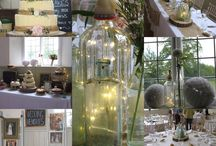 Our vintage, rustic, glittering wedding / Hertfordshire village church and Victorian village hall rustic, vintage themed wedding
