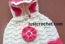 Kid hooded crochet