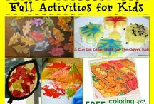 Fall Time Fun for Kids / fall activities, crafts and more for kids
