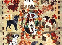 Cats and dogs on quilt