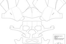 3d papper skull