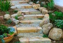 Degraus de pedra