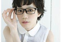 Short Hair & Glasses