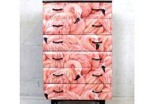 /Flamingo Decoupage/