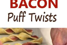 bacon puff twists