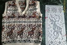 Žakárové pletení + vzory, schémata