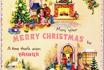 Vintage Christmas Cards / Vintage greeting cards of the past are a passion of mine.  Check out gorgeous and interesting Christmas cards and holiday cards from the 1900's to the 1980's. #christmascards #holidaygreetings and come visit us at the Vintage Garage Chicago where every month we feature all things vintage!
